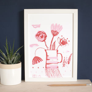 Bright Botanical Still Life Art Print - still life