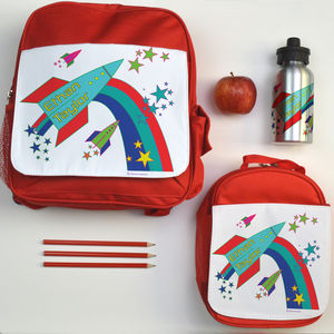 Personalised Back To School Set Rockets - tableware