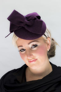 Plum/Deep Burgundy Felt Beret Hat - hats & fascinators