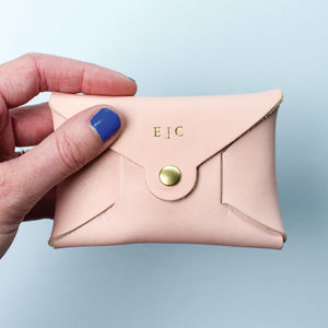 Personalised Coloured Leather Coin Purse - gifts for mothers