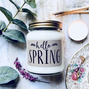 Limited Edition 'Hello Spring' Lime Sherbet Candle - candles & home fragrance