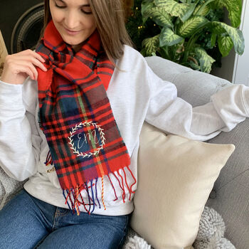Personalised Women's Traditional Tartan Scarf