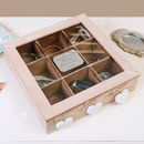 Personalised Wooden Jewellery Box With Hearts