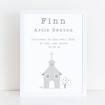 Christening, Baptism And Dedication Personalised Print