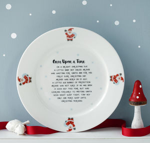 Personalised Story Christmas Eve Bone China Plate