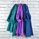 Oversized Scarf Teal, Purple, Navy