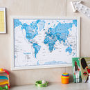 Kids Map Of The World Art Print