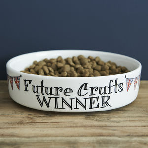 'Future Crufts Winner' Dog Bowl - food, feeding & treats