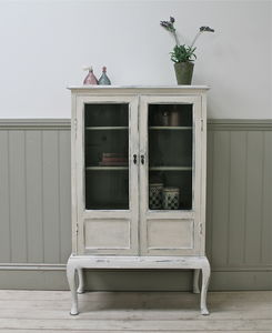 Distressed Vintage Glazed Cabinet - cabinets