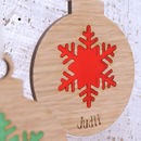 Snowflake Bauble in Frost Red