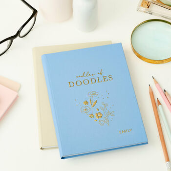 Personalised Doodles Hardback Notebook