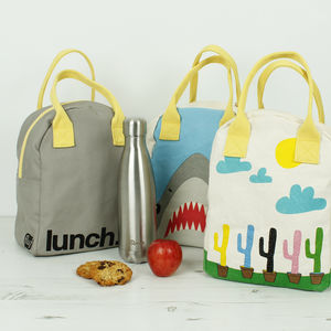 Organic Cotton Zipper Lunch Bags - lunch boxes & bags