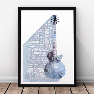 Heroes Of Rock Print - music