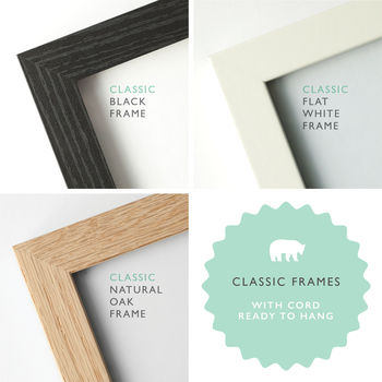 50x20cm Handmade Picture Frame By The Drifting Bear Co
