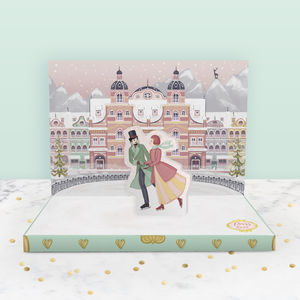 Winter's Dream Christmas Music Box Card - cards