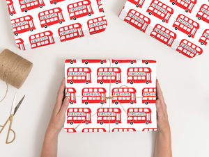 Personalised London Wrapping Paper