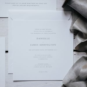 Elegant Square Wedding Invitation Set - order of service & programs