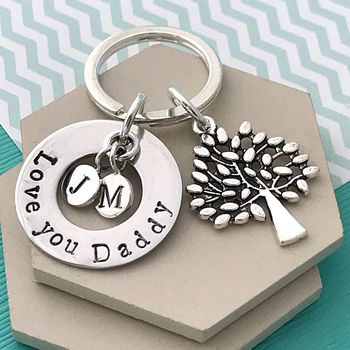 Love You Daddy Tree Keyring