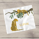 Personalised Leopard Tropical Glasses Lens Cloth