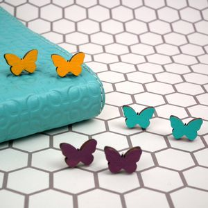 Butterfly Stud Earrings - earrings