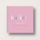 notebook in soft pink