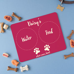 Personalised Placemat For Small Pets - food, feeding & treats