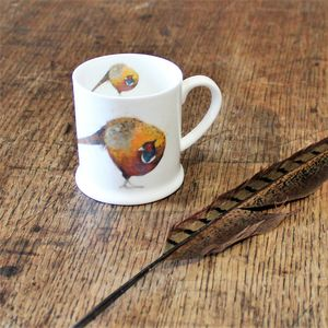 Pheasant Bone China Mini Mug