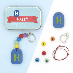 Personalised Letter Keyring Gift Kit - children's parties