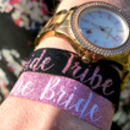 bride tribe rose gold hen party wristbands