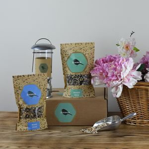 Blue Tit Bird Seed Gift Box