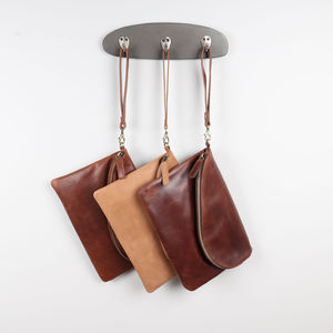 Kirsti Leather Fold Over Clutch Bag