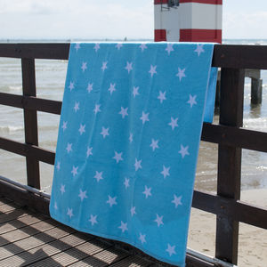 Stars Large Beach Towels In Blues - bed, bath & table linen