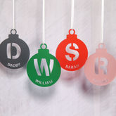 Personalised Initial Bauble Christmas Tree Decoration - christmas decorations