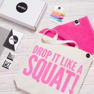 Squat The Gym Tote Fit Kit, Gift Box - activewear