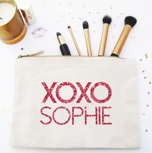 Xoxo Glitter Make Up / Wash Bag