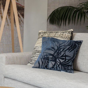 Palm Tree Midnight Blue Pillow - cushions