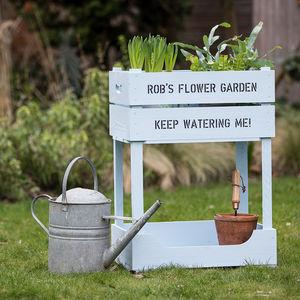Personalised Raised Garden Planter - pots & planters