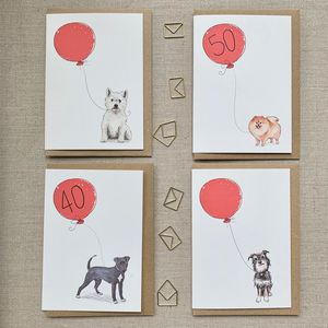 Personalised Dog Breed Birthday Card