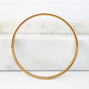 Half Groove Gold Bangle - bracelets