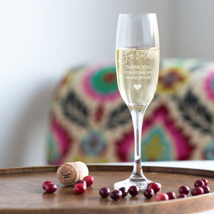 Bridesmaid Champagne Glass - bridesmaid gifts