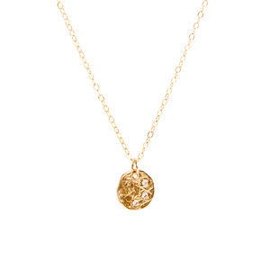 Cubic Zirconia Disc Necklace