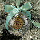Personalised Baby's First Christmas Bauble Decoration