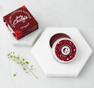 Red Velvet Cupcake Lip Balm - love tokens