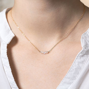 14k Gold Fill Moonstone Necklace