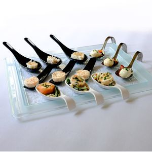 Glass Effect Serving Platter: Elegant Party Tableware