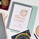 Personalised Foiled Father's Day Compass Card