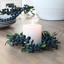 Blueberry Candle Wreath