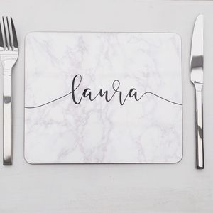 Marble Personalised Placemat