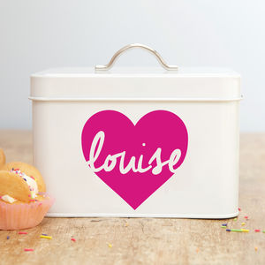 Personalised Heart Cube Tin - tins, jars & bottles