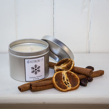 Cranberry Cinnamon And Orange Candle Tin